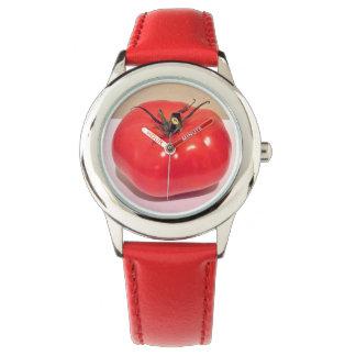 Tomate vermelho brilhante 4sullivan relógio de pulso