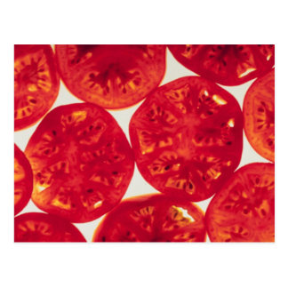 Tomates cortados cartão postal