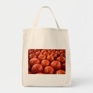 Tomates do mercado do fazendeiro vermelho bolsa tote