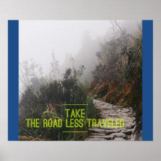 Tome a estrada viajou menos - poster inspirador pôster