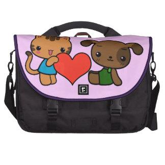 """""""tome meu coração, """"disse o gato ao cão maleta para laptop"""