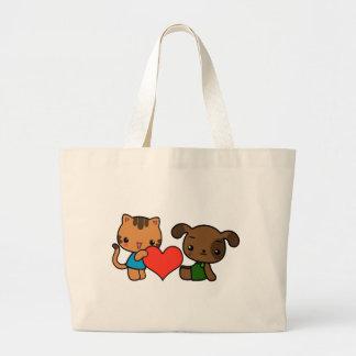 """""""tome meu coração, """"disse o gato ao cão bolsa para compras"""