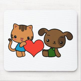 """""""tome meu coração, """"disse o gato ao cão mouse pads"""