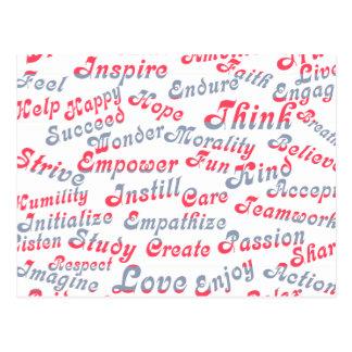 Tome-o às palavras inspiradores do coração cartao postal