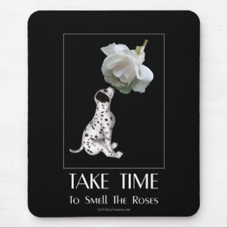 Tome o filhote de cachorro e o rosa do tempo Mouse Mouse Pad