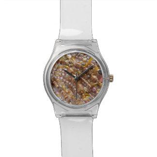 Tons naturais da terra do relógio, impressão da relógio de pulso