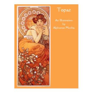 Topázio por Alphonse Mucha Cartão Postal