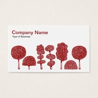 Topiary - vermelho do rubi no branco cartão de visitas
