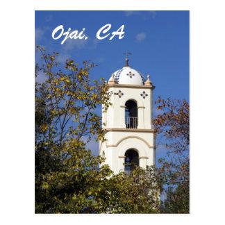 Torre da estação de correios de Ojai Cartão Postal