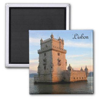 Torre de Belém em Lisboa Ímã Quadrado