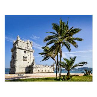 Torre de Belém, Lisboa, Portugal Cartão Postal