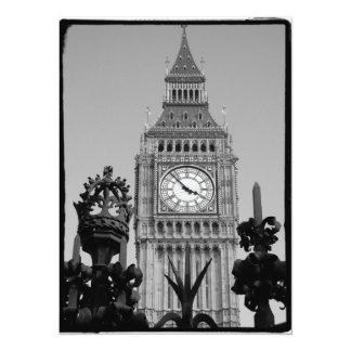 Torre de Big Ben Convite 13.97 X 19.05cm