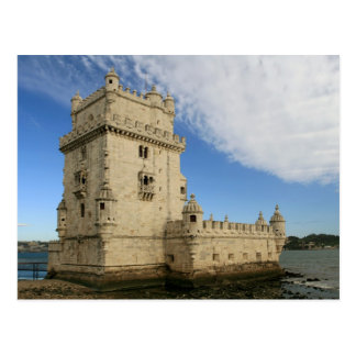 """""""Torre de cartão de Belém, Lisboa"""" Cartão Postal"""