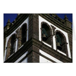 Torre de igreja Católica Cartão Comemorativo