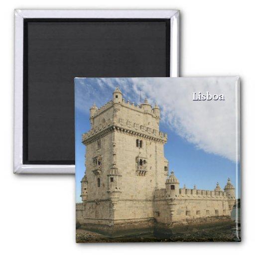 """Torre de ímã de Belém, Lisboa"" Imã De Geladeira"