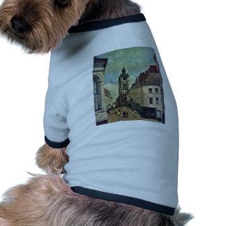 Torre de sino de Douai por Corot Jean-Baptiste-Cam Camisas Para Cães