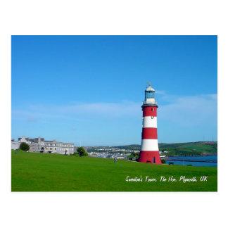 Torre de Smeatons, o Hoe, Plymouth Cartão Postal