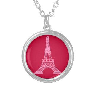 Torre Eiffel cor-de-rosa Bijuteria Personalizada