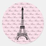 Torre Eiffel cor-de-rosa e preta de Paris Adesivo