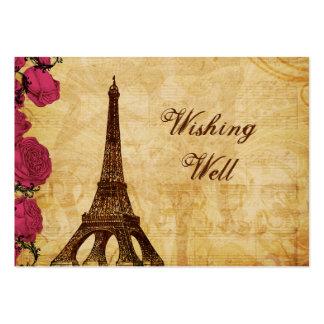 Torre Eiffel cor-de-rosa Paris do vintage que dese Modelos Cartoes De Visita