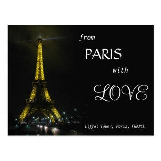 TORRE EIFFEL - de Paris com AMOR Cartão Postal