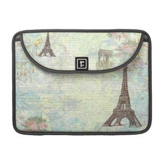 Torre Eiffel de Paris e roteiro francês Bolsas MacBook Pro
