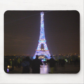 Torre Eiffel de Paris na noite Mouse Pad