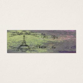 Torre Eiffel do vintage Cartão De Visitas Mini