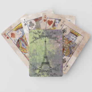 Torre Eiffel do vintage Cartas De Baralho