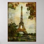 Torre Eiffel do vintage Posteres