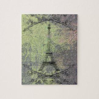 Torre Eiffel do vintage Quebra-cabeça