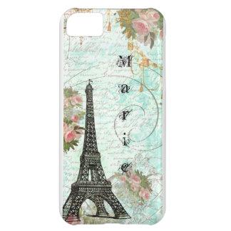 Torre Eiffel e rosas cor-de-rosa Capa iphone5C