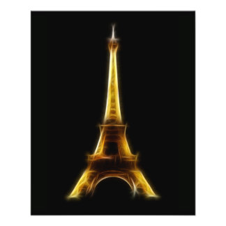 Torre Eiffel em Paris France Flyer 11.43 X 14.22cm