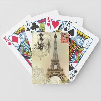 Torre Eiffel feminino chique de Paris do laço Baralhos Para Pôquer