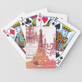 torre Eiffel feminino do candelabro francês Baralhos De Poker