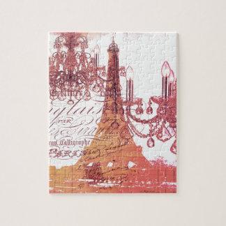torre Eiffel feminino do candelabro francês Quebra-cabeça