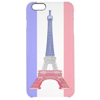 Torre Eiffel francesa da bandeira de Paris Capa Para iPhone 6 Plus Clear