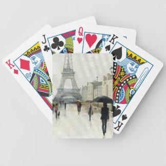 Torre Eiffel | Paris na chuva Baralhos De Poker