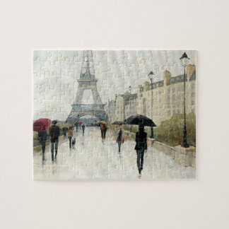 Torre Eiffel | Paris na chuva Quebra-cabeças