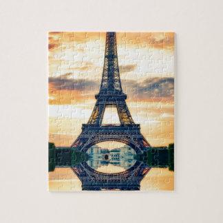 Torre Eiffel Paris que nivela o viagem europeu Quebra-cabeça
