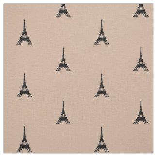 Torre Eiffel Tan e preto Tecido