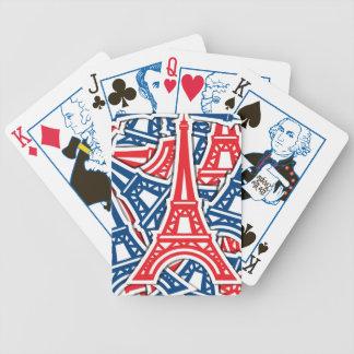 Torre Eiffel, teste padrão de France Jogo De Carta