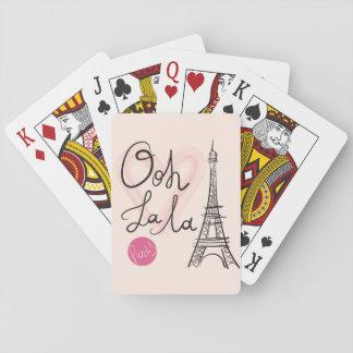 Torre Eiffel tirada mão Cartas De Baralho