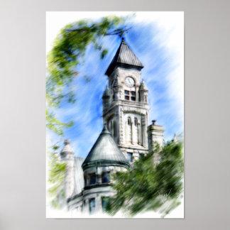torre histórica de wichita pôster