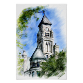torre histórica de wichita poster