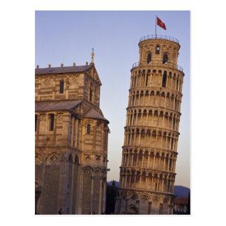 Torre inclinada de Italia, Toscânia, Pisa de Pisa Cartão Postal