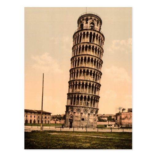 Torre inclinada de Pisa Cartão Postal