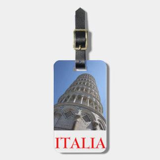 Torre inclinada/Tag de Italia Tags De Bagagens