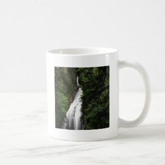 Torrente de fluxo branca da cachoeira caneca