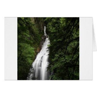 Torrente de fluxo branca da cachoeira cartão comemorativo